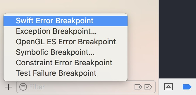 A kind of breakpoint that will only trigger when errors are thrown