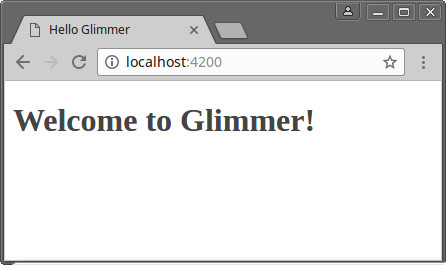 Welcome glimmer