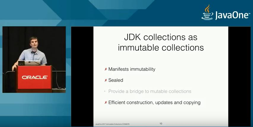 JDK collections As Immutable Collections ?