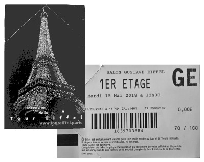 Eiffel ticket